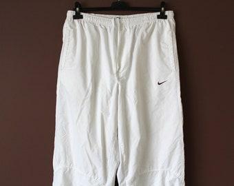 best service 66521 c92d5 90 s NIKE Pants, Vintage Nike Windbreaker, Nike Track Pants, White Sport  Pants, Hip Hop Rap Pants, Nike Running Pants, Nike Swoosh, Size XL