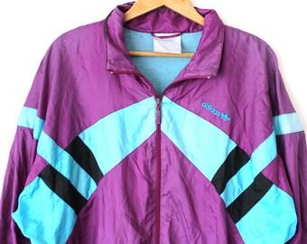 Vintage Adidas Windrunner Gr. L XL • 90er Jacke