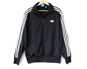 ADIDAS ZIPPER HOODIE Hoody Kapuzenjacke Jacke 3 Streifen schwarz Gr. XL X Large