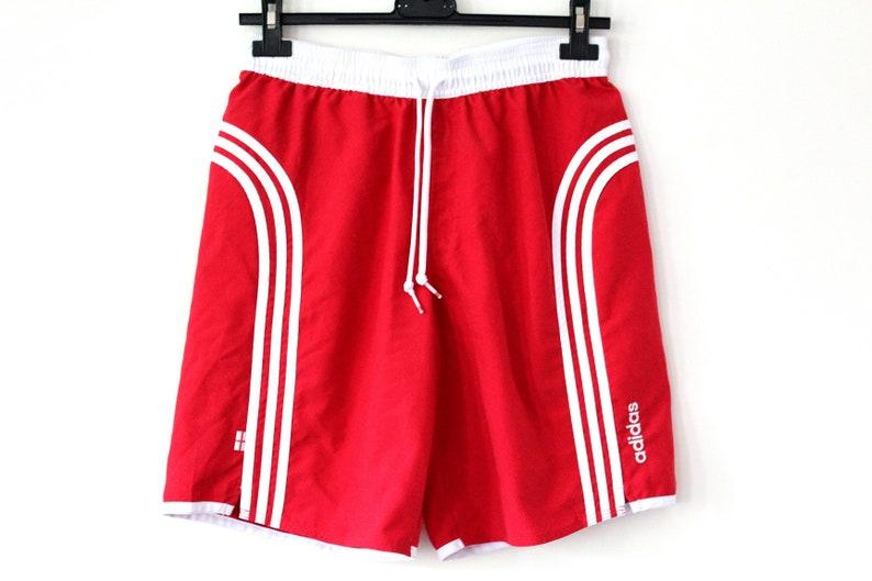 00ce095ac5 Red White Adidas Shorts Vintage Adidas Sport Shorts Retro | Etsy