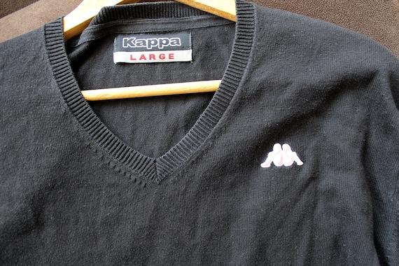 90s streetwear casual sweater size extra large XL retro V neck black boho mens pullover oversize Vintage mens sweater retro half zip