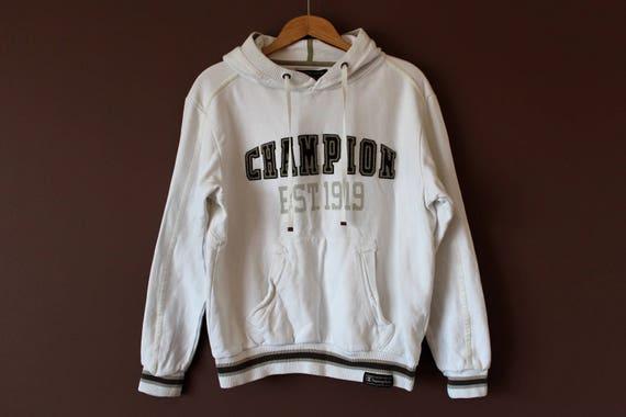 dd8b0d3e6135 Vintage CHAMPION Hoodie 90's Champion Sweatshirt White | Etsy