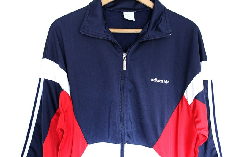 57ec221dc345 Very Rare 80 s ADIDAS Jacket Made in England Adidas