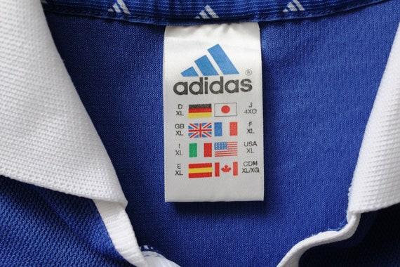 Seltene Oldtimer FC SCHALKE 04 Shirt, blau weiß Adidas Fußballtrikot, deutschen Fußball Jersey, in Großbritannien, X große Adidas Fußballtrikot