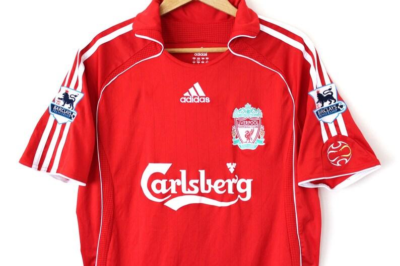 sale retailer ecd15 cf1b3 Vintage LIVERPOOL Shirt, Red Adidas Jersey, Liverpool Home Jersey, English  Team Football T-Shirt, Adidas Soccer Shirt, Size M