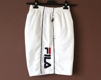 fabf92072ca Vintage FILA Shorts, 90's Fila Beach Shorts, White Blue Red Fila Swimming  Shorts, Fila Tennis Shorts, Fila Sport Shorts, Fila Trunks