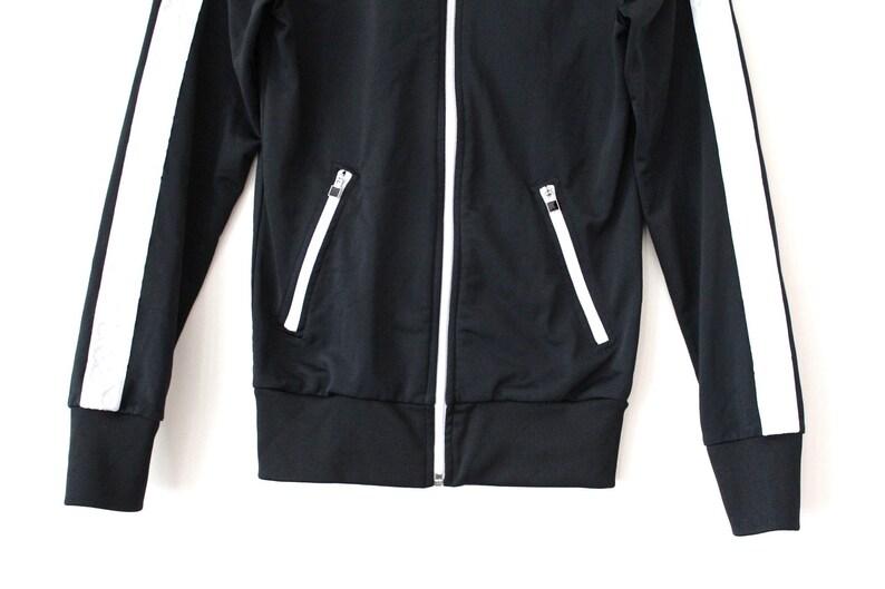 Vintage NIKE Jacket 90 s Nike Windbreaker Black White  ec0c0c4ba