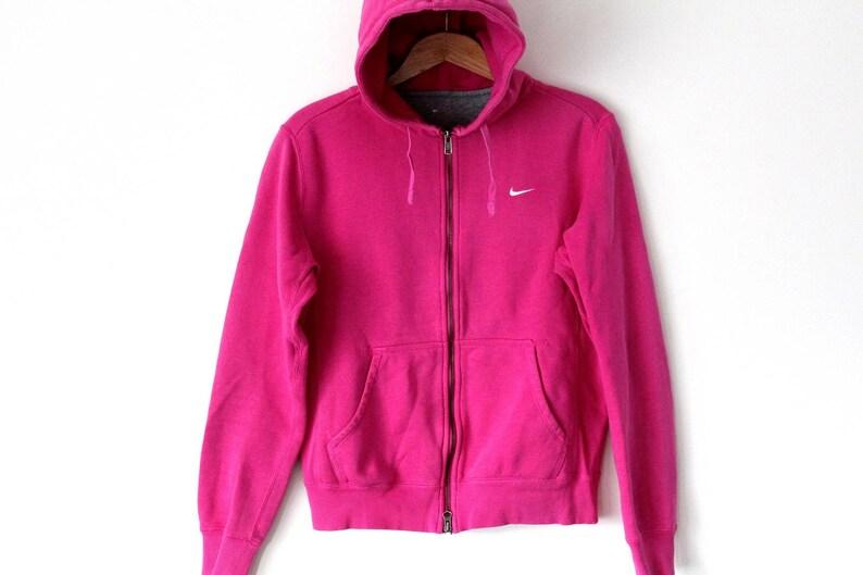 90s NIKE Hoodie Vintage Nike Sweatshirt Pink Nike Jacket  e327c0304