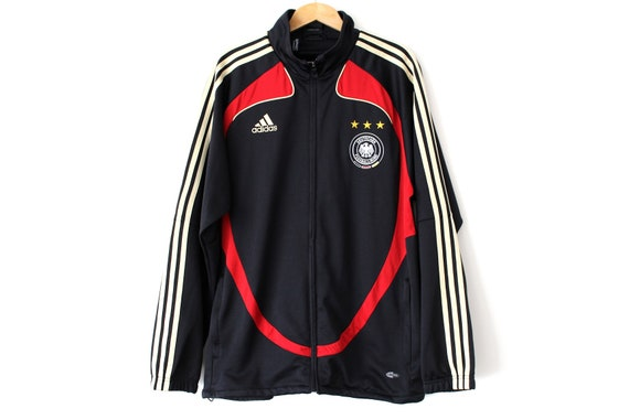 Vintage Adidas Deutscher Fussball Bund Jacket Black Adidas Tracksuit Germany National Football Team Jacket Retro Germany Soccer Jacket