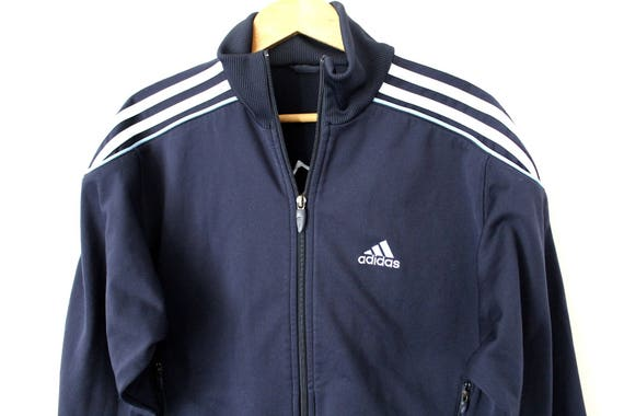 utterly stylish official photos best price Survêtement ADIDAS Vintage, des années 90 Adidas Track Jacket, Rare bleu  Adidas Windbreaker, brodé gros Logo Adidas, Adidas Sweat shirt Zip