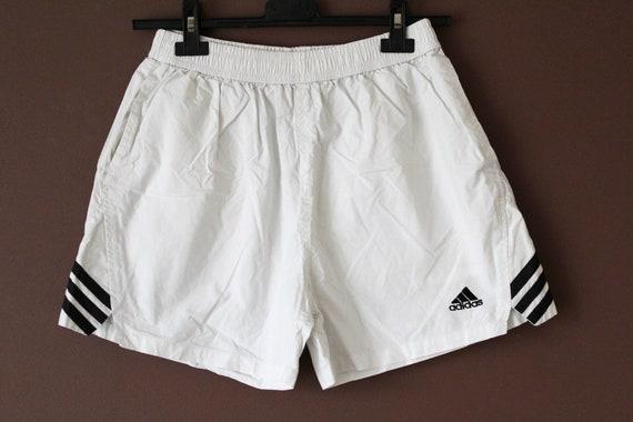 pretty nice 28fc3 c5db7 White Black ADIDAS Shorts Vintage Adidas Sport Shorts
