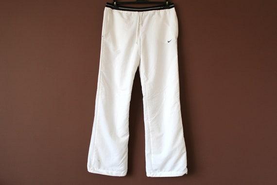 90er Jahre NIKE Hose, Tanz hose, Vintage Nike Windbreaker, Nike Track Hose, weiße Sport Hose, Hip Hop Rap Hose, Nike Laufhose, Größe M