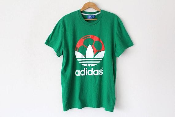 Vintage ADIDAS Shirt Adidas Trefoil Short Sleeves T-Shirt  aef22e64bf98