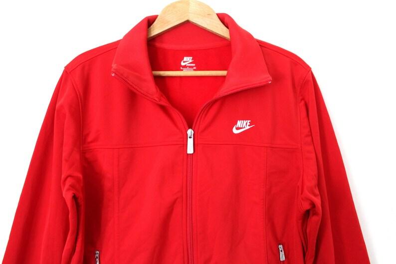 83ba09c420dc Vintage NIKE Jacket Red White Nike Windbreaker Unisex Nike
