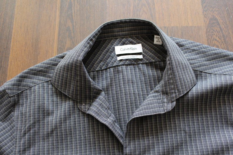 279e6827b Vintage CALVIN KLEIN Shirt Long Sleeve Button Down Shirt | Etsy
