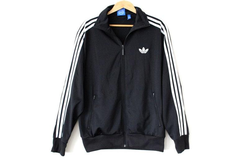 9a22432ac10b 90 s ADIDAS Jacket Black White Adidas Tracksuit Hip Hop