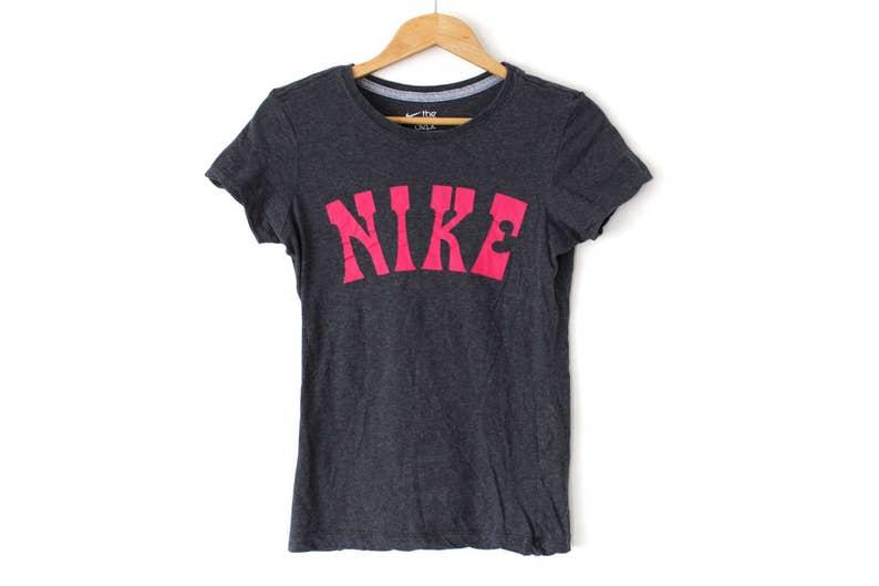 7d72ff6934108 Vintage NIKE Shirt Short Sleeve Nike Sweatshirt Gray Nike