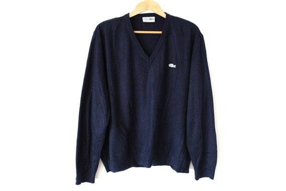 Chemise LACOSTE Sweater Vintage Tennis Pullover Designer  63e1f1d42b6