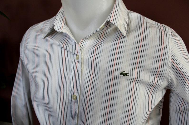 08d543790e 90 ' s LACOSTE chemise manches longues Vintage bouton | Etsy