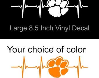Clemson Glitter Paw Decal Palmetto Shirt Co Koss Creative