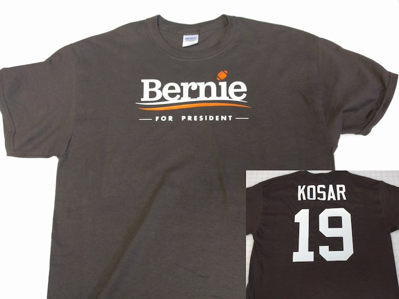 bdc1f280f11 Bernie For President Bernie Kosar Jersey T Shirt Name Number | Etsy