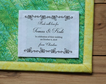 Free Shipping Quilt Labels Personalized Sewing Labels Etsy