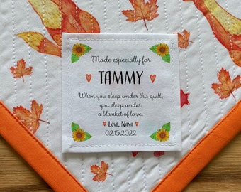 bride to be wedding stats Large Quilt labels groom mother of the bride wedding quilts Personalized Labels fabric custom labels