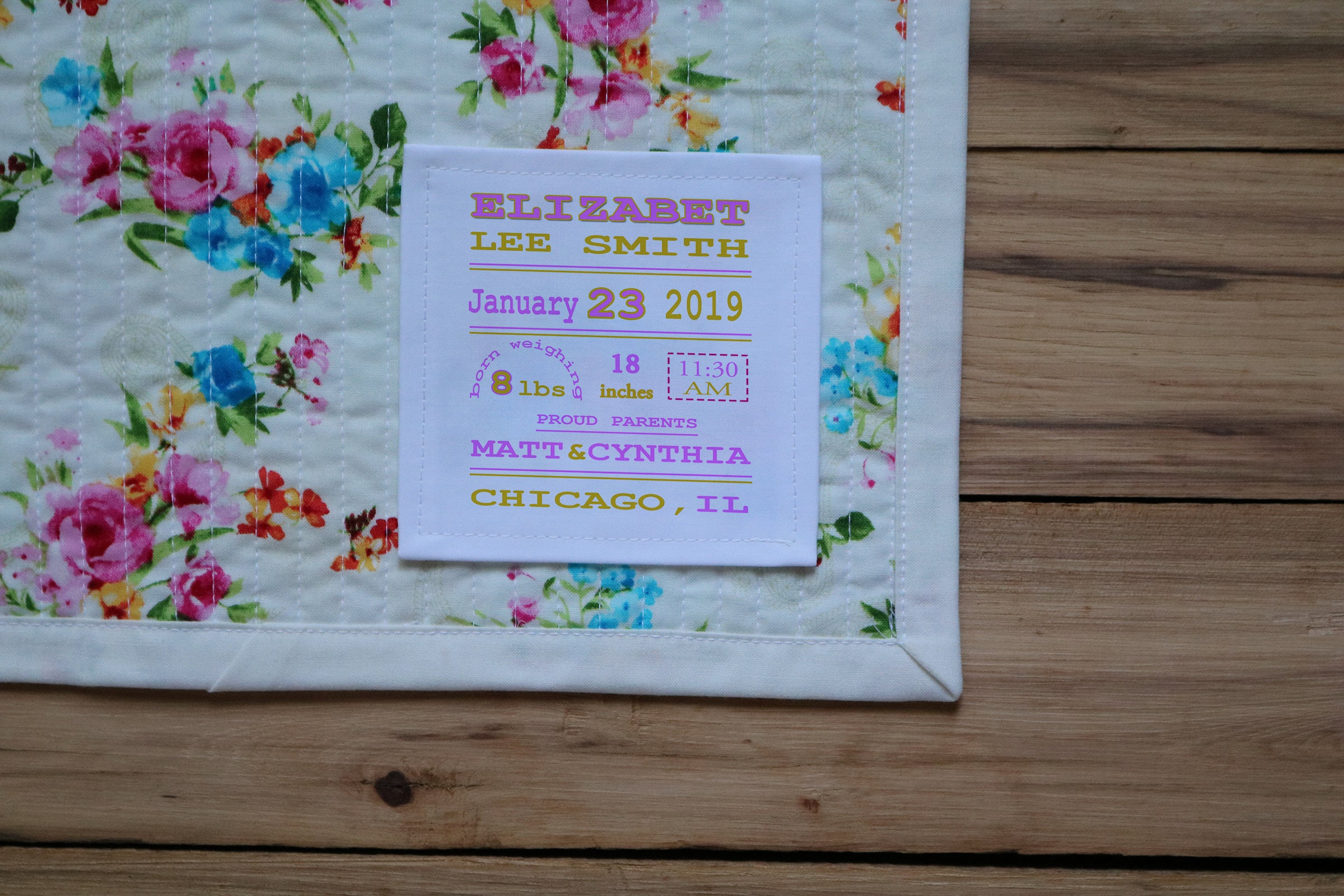 Large Quilt Label | Personalized Sewing Labels | Personalized Quilt Labels  | Quilt Patch | Custom Fabric Labels | Blanket Label