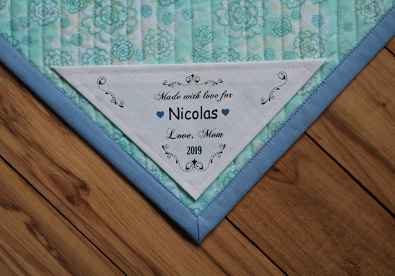 Triangle Quilt Label Personalized Sewing Labels Etsy