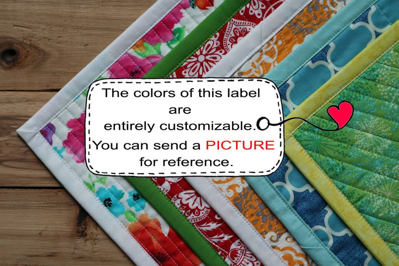 blue flowers,red Personalized Sewing Labels,floral labels quilt labels Blanket Label Quilt Patch Large Fabric Quilt Label green pink