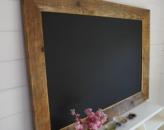 Stylish Chalkboard / Menu Board. Framed Blackboard with gold leaf trim.