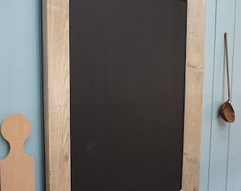 Stylish Chalkboard/ Menu Board. Framed Blackboard with silver leaf trim.