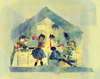 Maison Bleue - Giclee Print- Ceci Bowman Designs