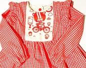 f13a9674f4ba Items similar to Red Gingham Kawaii Long Sleeve Top