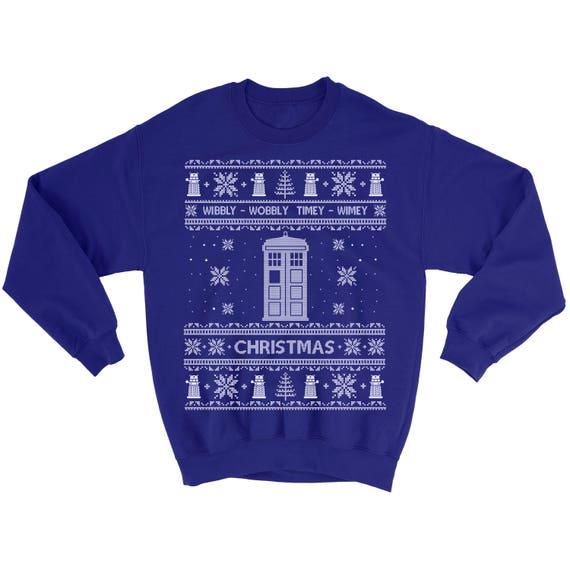 Dr Who Christmas Sweater.Kids Youth Dr Who Christmas Sweatshirt Unisex Boy Girl Sweater Ugly Christmas