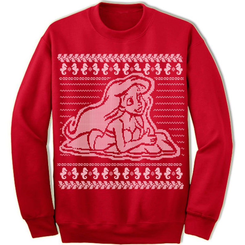 Mermaid Ugly Christmas Sweater. Holiday Christmas Sweatshirt. image 2