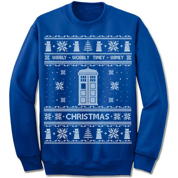 Ugly Christmas Sweater Doctor Who Christmas Sweatshirt Dr Who Etsy