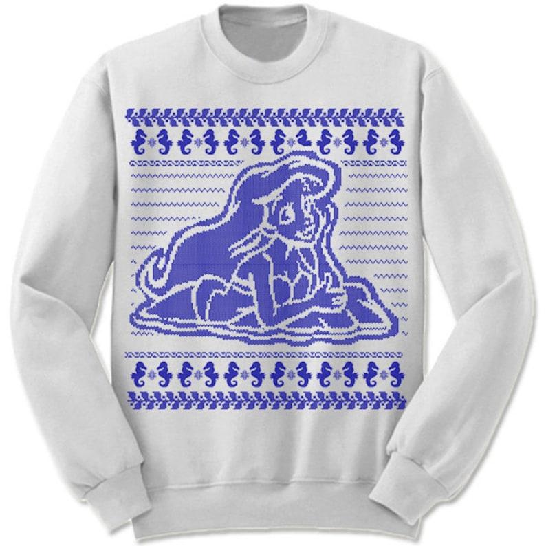 Mermaid Ugly Christmas Sweater. Holiday Christmas Sweatshirt. image 3