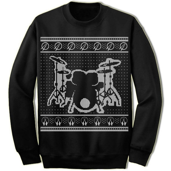 Band Ugly Christmas Sweaters.Drums Ugly Christmas Sweater Gift For Drummer Ugly Sweater Musical Band Merry Christmas Sweatshirt Ugly Christmas Sweater Party