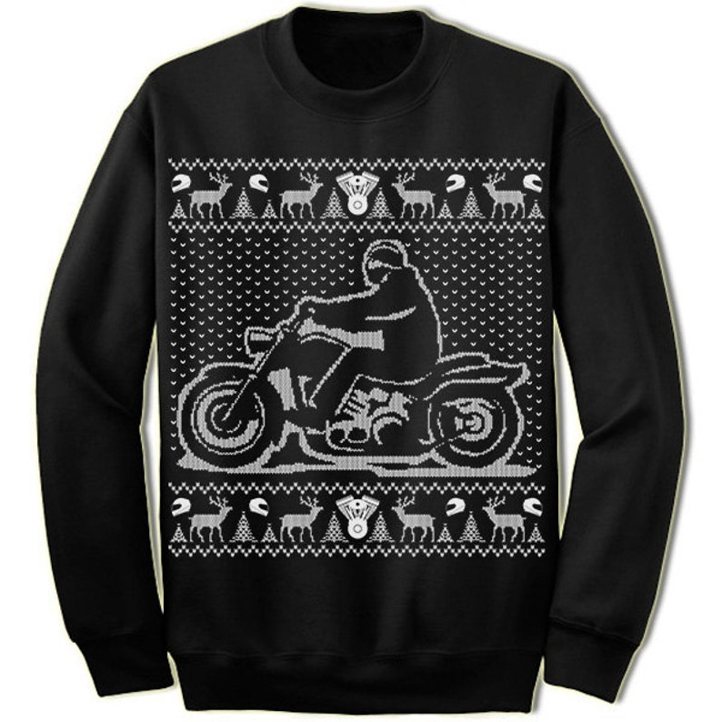 d3e94afeec2c Motorcycle Ugly Sweater. Bike. Gift For Biker. Club. Merry Christmas.  Christmas Sweatshirt. Ugly Christmas Sweater. Party.