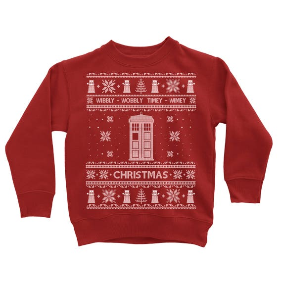 Dr Who Christmas Sweater.Toddler Christmas Sweater Doctor Who Christmas Sweatshirt Dr Who Ugly Christmas Sweater Sweatshirt Unisex Kids Ugly Christmas Sweater