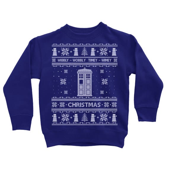 Toddler Christmas Sweater Doctor Who Christmas Sweatshirt Dr Etsy