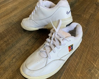 new products ebd5a b0125 Vintage 90s NIKE Supreme Court Challenge Sampras Tennis Shoes Sneakers Size  US 6.5