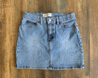 bffbe1a1710a1b Vintage 90s GAP Jeans Stretch Light Blue Denim High Waisted Mini Jean Skirt  Size 1