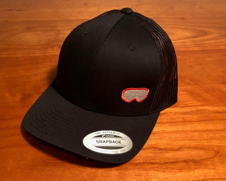 2ca71773810f6 Ski google embroidered contrast stitch mesh back hat