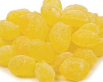 Sanded Lemon Drops, Hard Candy, Candy Buffet, Party Favors, Wedding Favors