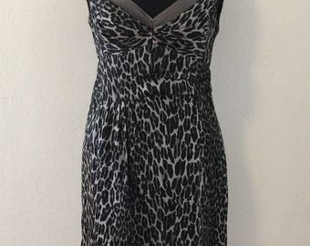 5a011375df4d Nanette Lepore - Grey Silk Leopard Dress - Women s 4