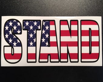 Patriotic us USA Proud Trump Anti Kaepernick Nike American Vinyl Betsy Ross Flag Sticker