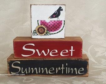 Sweet Summer Watermelon Crow Block Stack (SPG147)