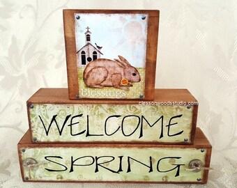 Welcome Spring Reversible Blocks